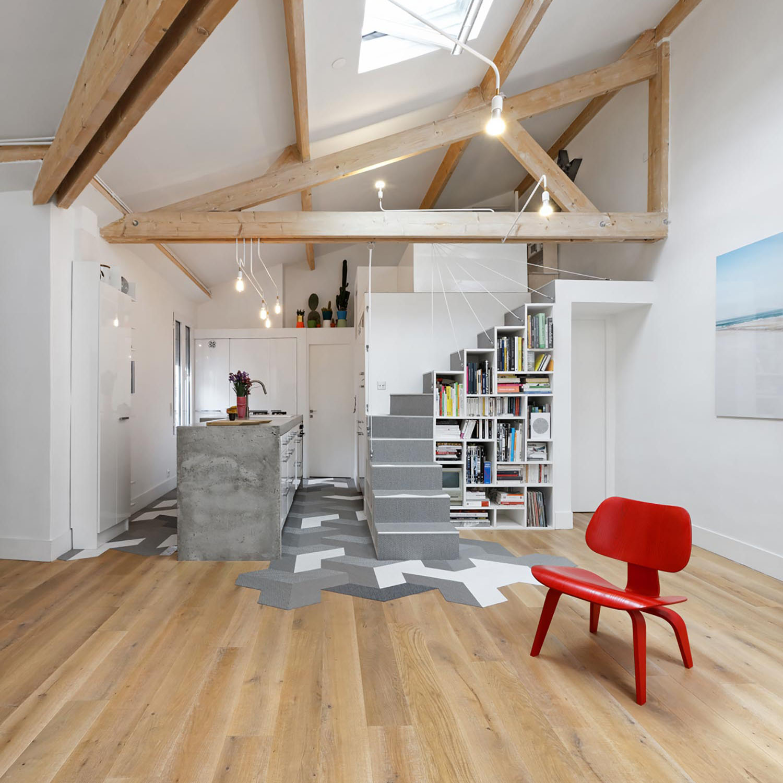 unconventional paris loft apartment with timeless modern flair