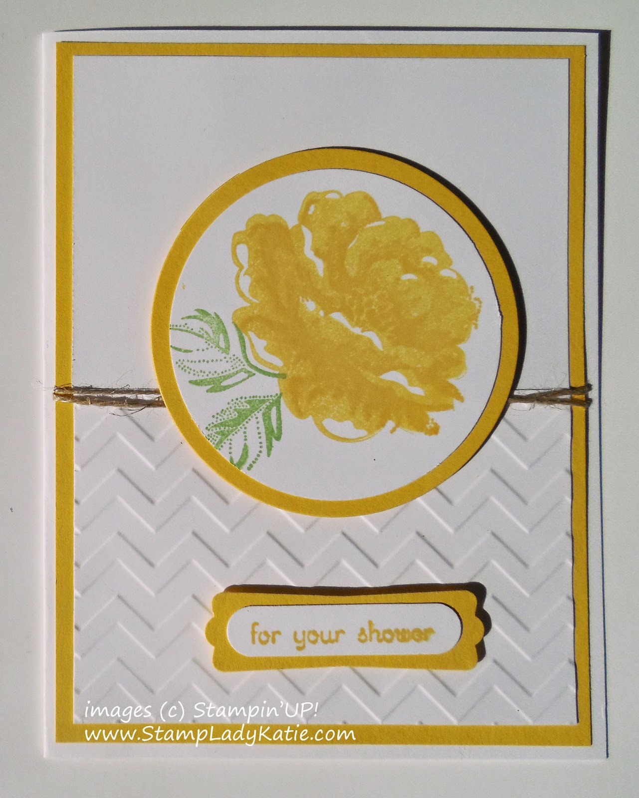 Card made with Stampin'UP!'s Stippled Blossom Stamp Set