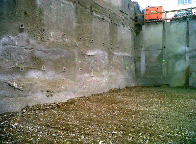 RSO et parois berlinoises sur 2 niveaux de sous-sol.