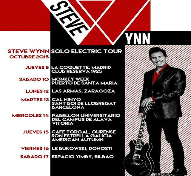 STEVE WYNN - Solo Electric Tour España - Octubre 2015
