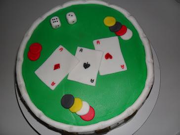 Bolo mesa de jogo