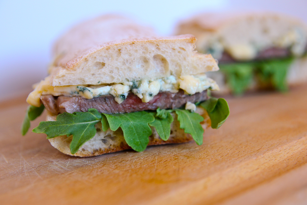 Steak Sandwich with Herb & Feta Sauce