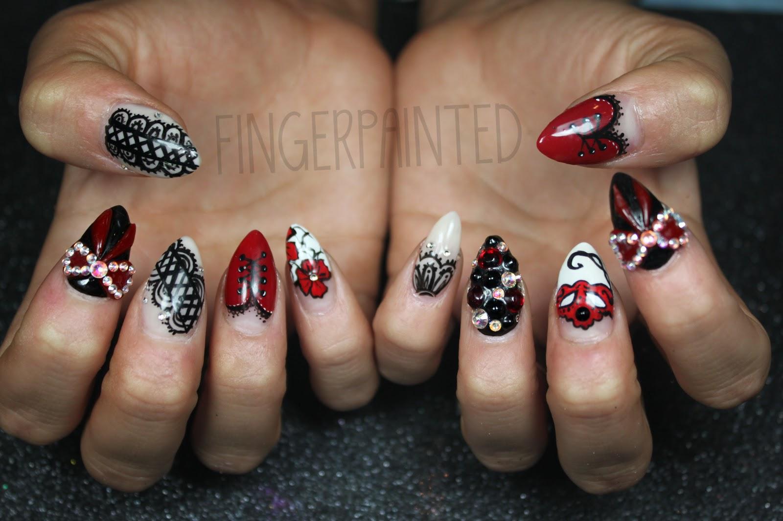 Рисунки на ногтях бантики из страз фото