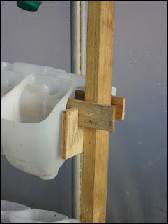 garden diy, garden woodwork, milk carton recycle, scrap wood holder border=