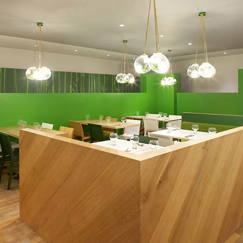 In design magz cozy elegant green restaurant interior