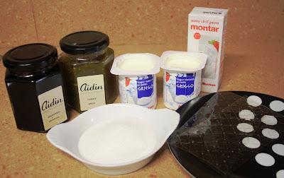 receta de mousse de yogur o yogurt con mermelada