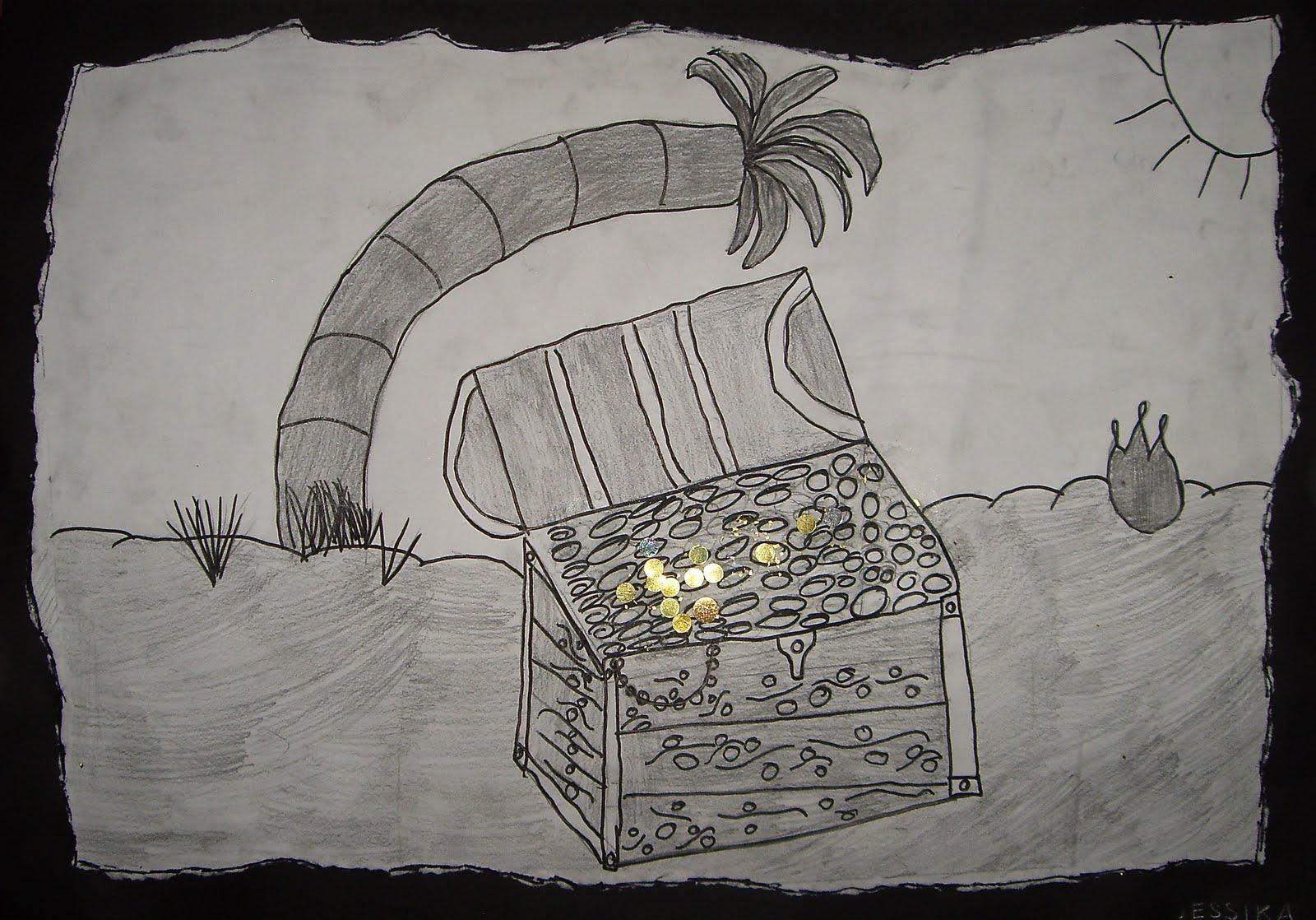 Treasure Chest Drawing Pencil