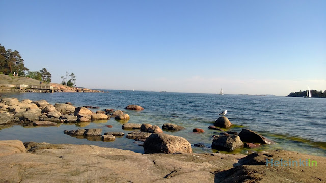 rocks at the shore of Helsinki