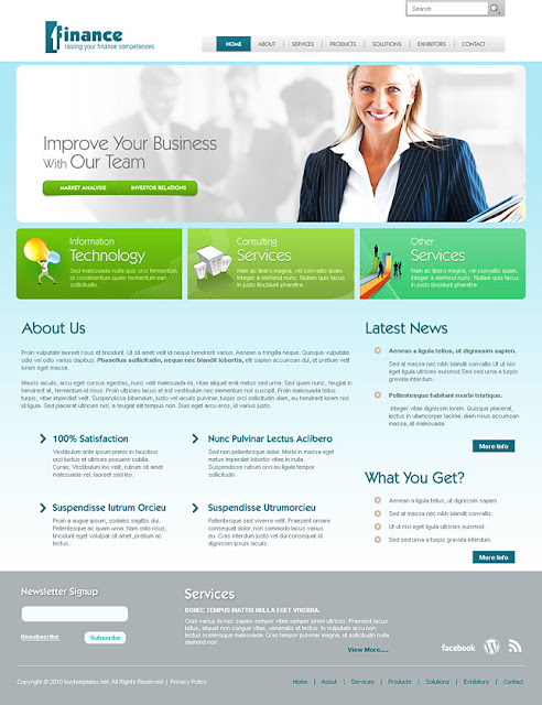 Accounting Website Templates2