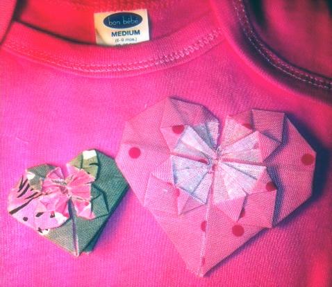 Hamajamma fabric origami flower hearts fabric origami flower hearts mightylinksfo