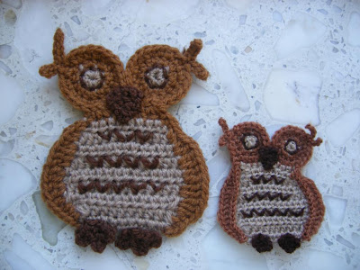 crafts for halloween: 2d owl free crochet pattern