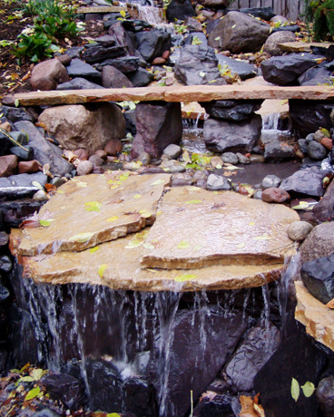 waterfall-design-rustic-backyard-patio