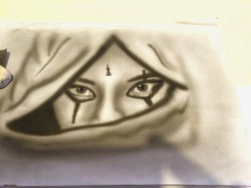 peinture aerographie airbrush regard femme bysoairdisign