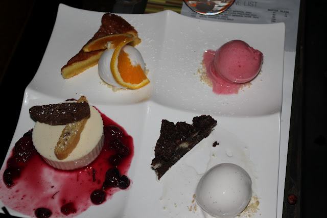 Dessert sampler at Aragosta, Boston, Mass.