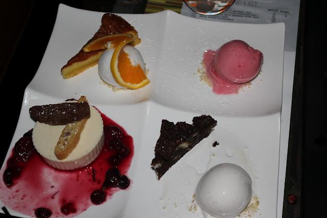 Dessert sampler at Aragosta, Boston, Mass.