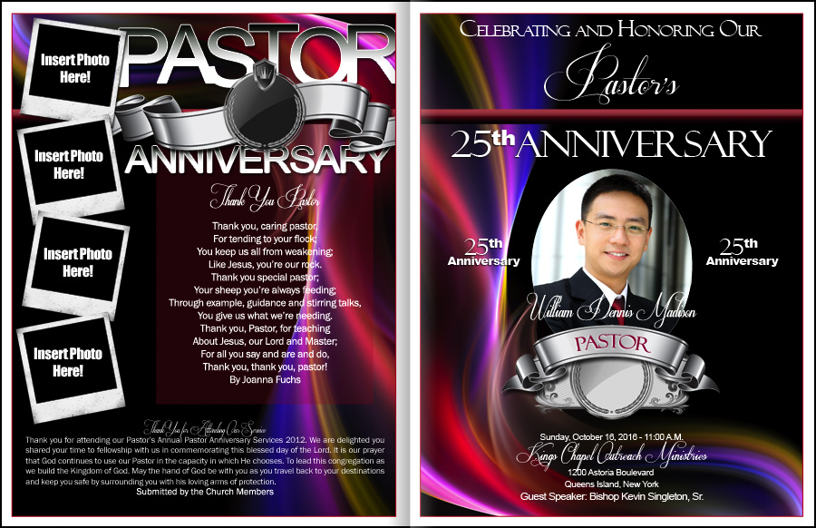 Pastor anniversary program templates thecheapjerseys Images