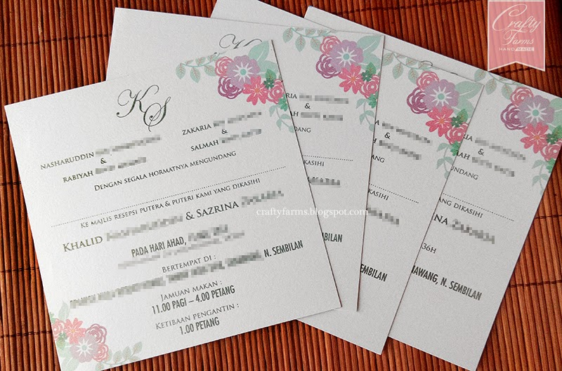 vintage, floral, purple, mint, turquoise, Wedding Flat Card Invitation, Malay Wedding Invitation, Wedding Modern Invitation, Kad Kahwin Walimatul Urus Melayu Kuala Lumpur