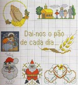 Imagens para bordados de Natal