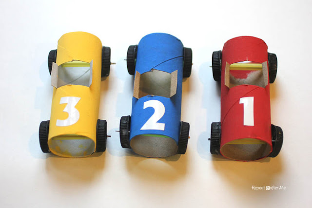 Toilet paper roll race cars repeat crafter me bloglovin for How to make a paper car that rolls