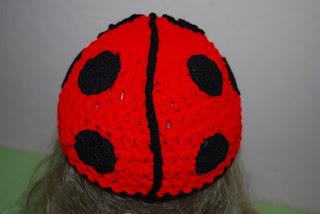 Crochet Lady bug hat.
