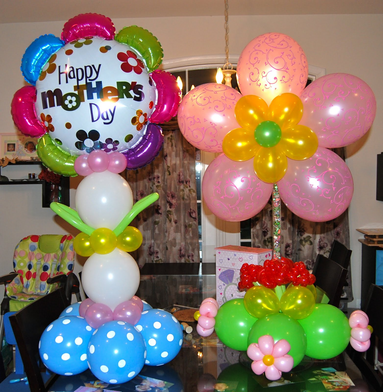 Mother 39 S Day Balloons Balloon Decor Twisting Glitter