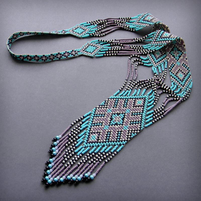 Схема гердана (гайтана) бисерное ткачество - схемы для бисероплетения