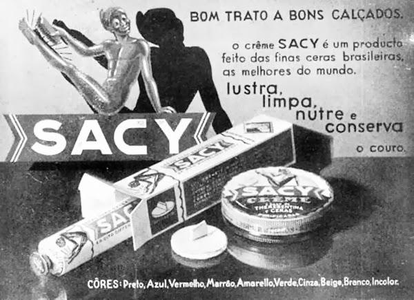 Propaganda do Creme Sacy em 1936