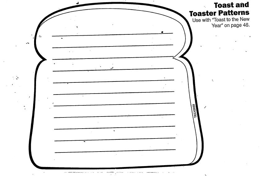 a couple of years ago mailbox magazine had this toast paper and we have used it ever since the students love the double meaning of the toast and like