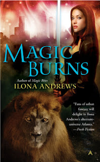 book cover of Magic Burns by Ilona Andrews