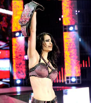 Paige WWE Diva Champion RAW after WrestleMania AJ Lee NXT