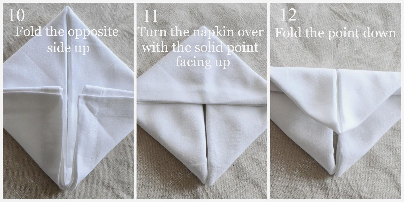 Bunny fold napkin diy interior design ideas for your modern home - Fold bunny shaped napkin ...