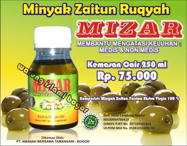 Jual MIZAR CAIR 250ml / Minyak Zaitun Ruqyah