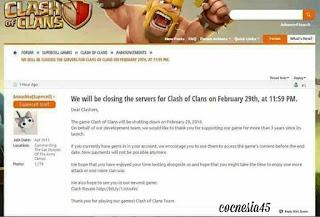 Clash of Clans tutup 29 Februari Hoax