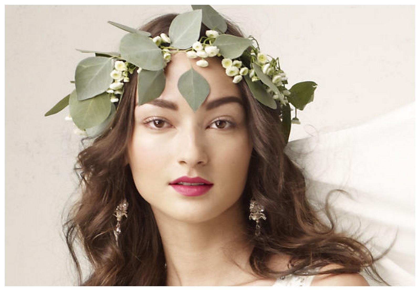 Bridal fresh flower headpieces bridal flower wreath ivory crown bridal fresh flower headpieces wedding flower crowns izmirmasajfo Gallery