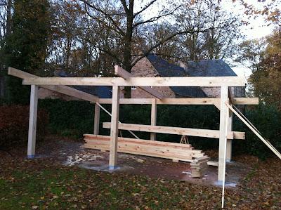skelet houten carport