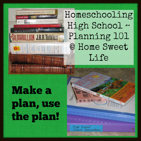 Homeschooling High School - planning