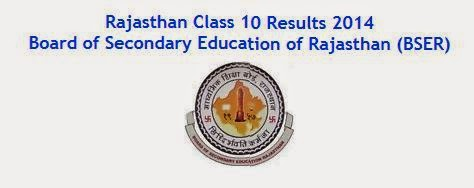 Rajasthan Board Class 10 Result 2014