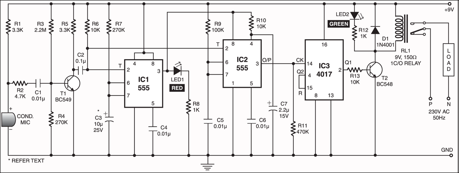 clap swtich Clap switch using lm358 & cd4013 this regulator board delivers 3amp current and adjustable voltage range 123v to 37v, with input voltage 40 vthe board built around lm2576-adj from texas instruments.