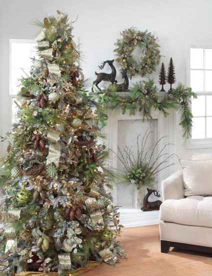 Rousseau 39 s fine furniture and decor christmas tree for A green christmas decoration