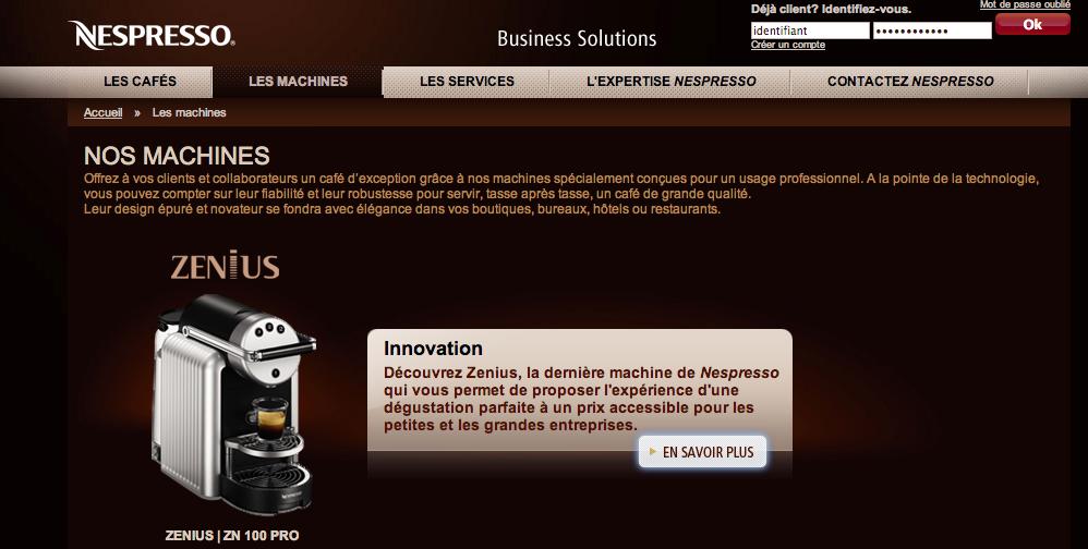 Capsules Nespresso Pro images -> Nespresso Zenius Capsules
