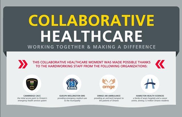 collaborative healthcare  working together and making a difference  infographic