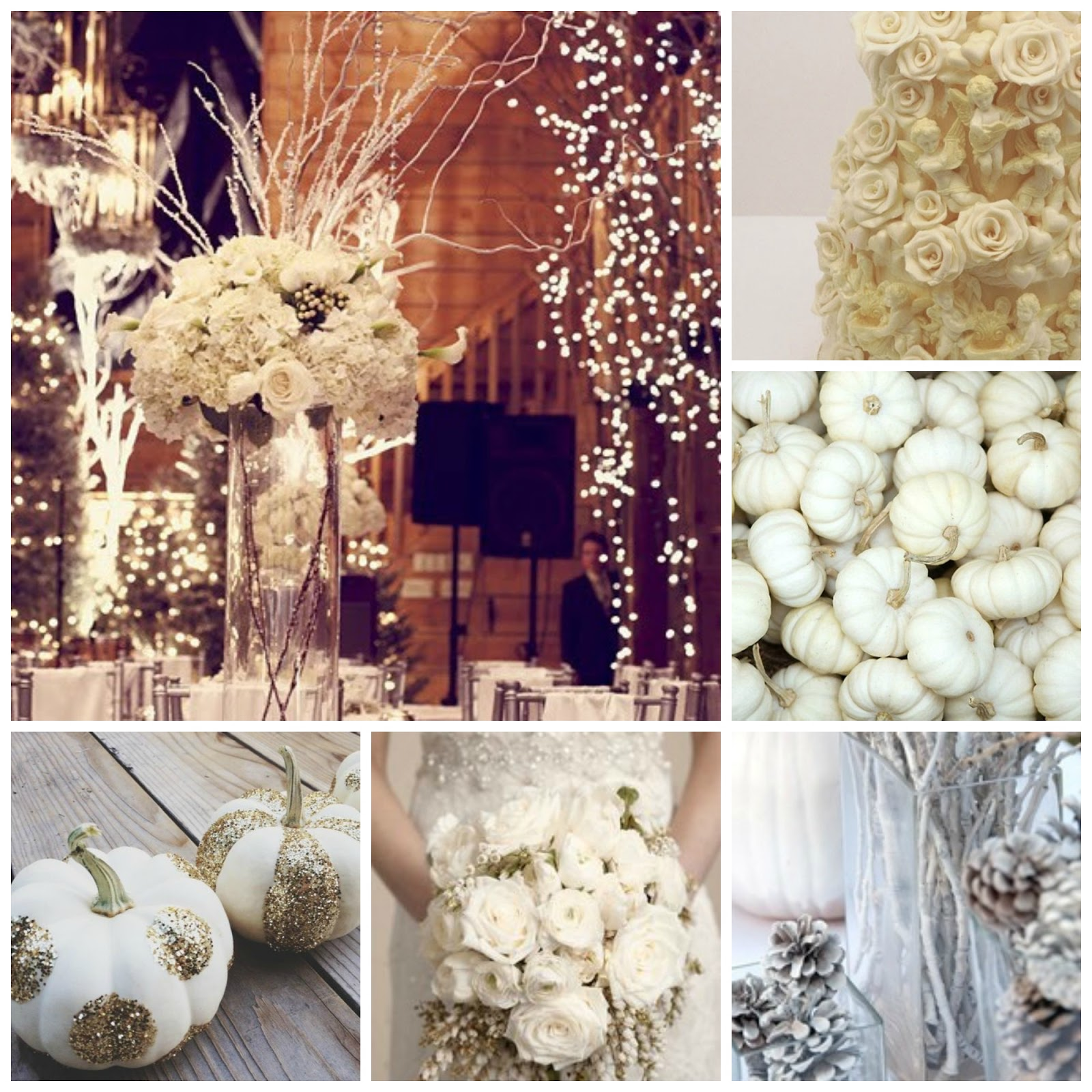 wedding mood inspiration board winter wedding white pumpkins