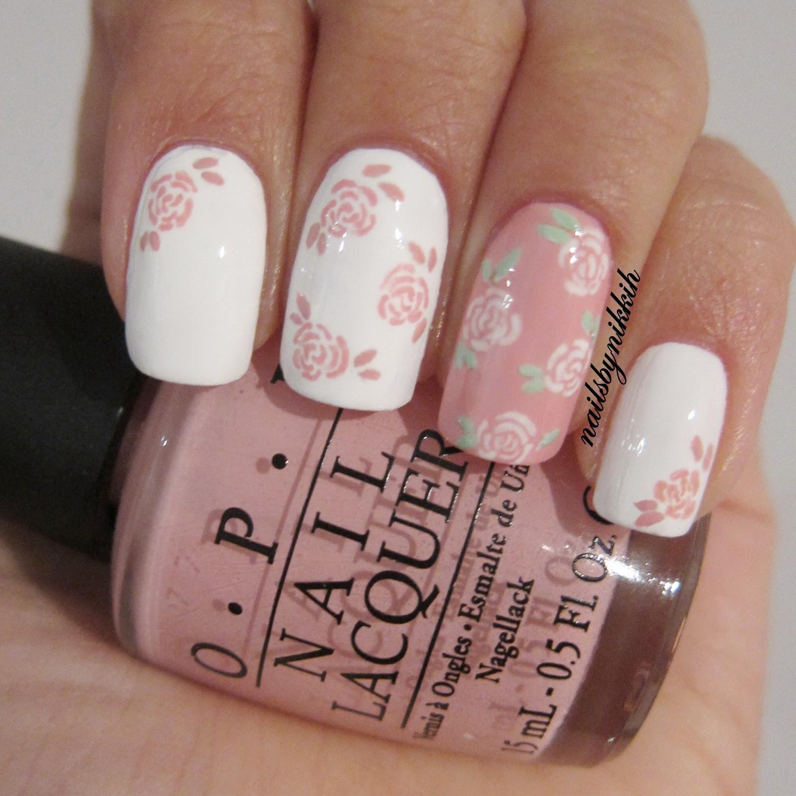 Flower Nail Art Tutorial: The Nail Art Trend: [Tutorial] The Trend: Floral Nail Art