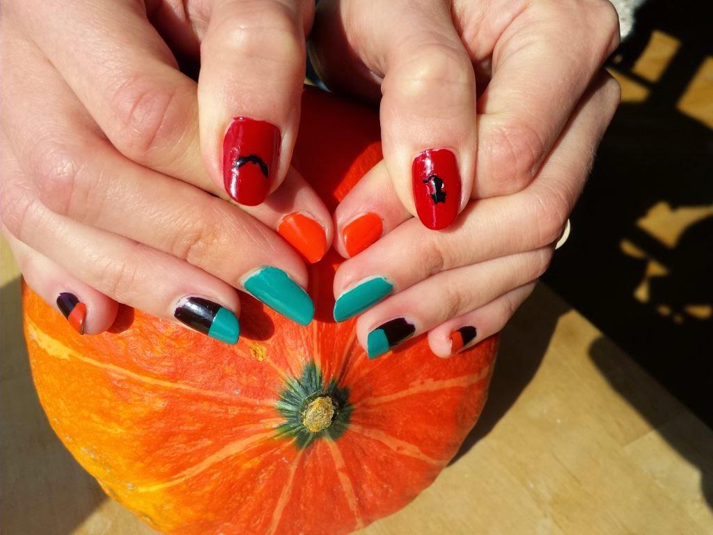 Herbstliche Nägel, Halloweenstyle