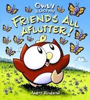 book cover of Owly and Wormy, Friends All Aflutter by Andy Runton