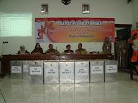 Setelah dilakukan rekapitulasi hasil pemungutan suara ditingkat TPS dan  PPK beberapa wak Hasil Rekapitulasi Tingkat Kabupaten, Pasangan Mabrur Lebih Unggul