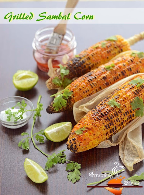Grilled Corn with Spicy Chili Oil