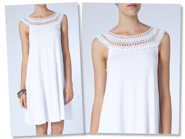 Vestido branco fresquinho.