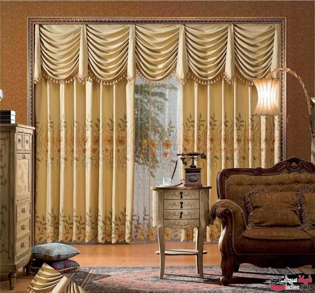living room design ideas with curtain designs, Exclusive Luxury drapes ...
