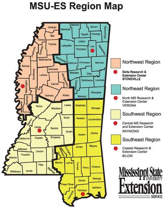 Mississippi County Map Area | County Map Regional City